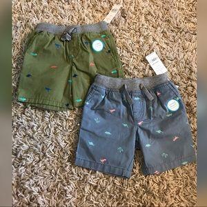 2T NWT Dinosaur Shorts Bundle